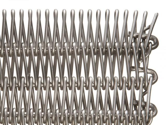 Wire Link Belts With Interlocked Spirals